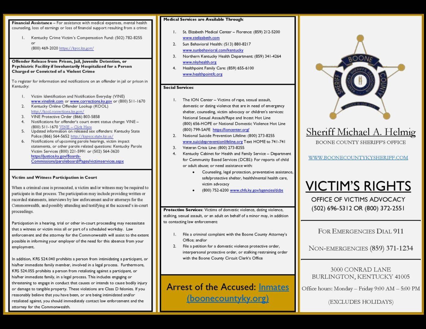 Victim's Rights Brochure - PDF FINAL